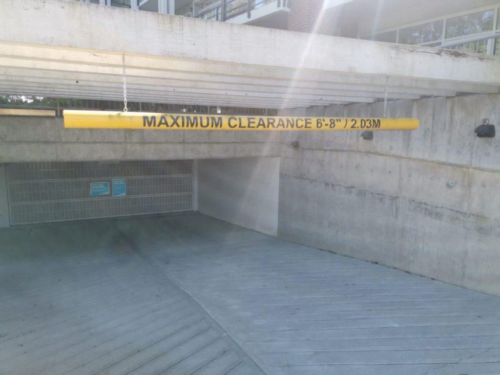 Underground parking gate that's secured